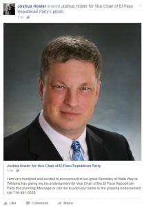 hosler claims wayne williams endorsed him