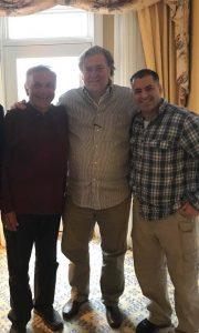 Gubernatorial candidate Tom Tancredo (left) with former White House strategist Steve Bannon (center) and gun rights advocate Joseph Neville (right)