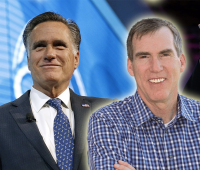 Doug Robinson and Mitt Romney