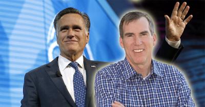 Doug Robinson and Mitt Romney