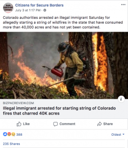 Tancredo Citizens for Secure Borders fake headline