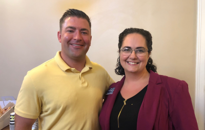 Colorado House District 18 candidate Mary Fabian, with House Minority Leader Patrick Neville