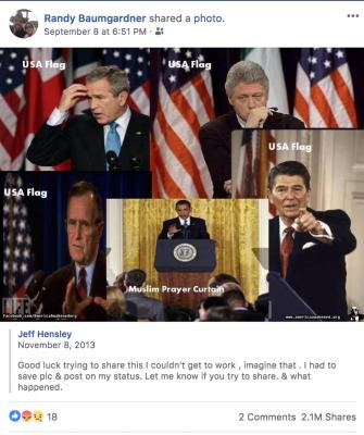 Sen. Baumgardner shares fake news implying Obama is Muslim