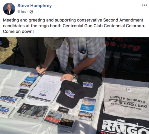 Rep. Steve Humphrey posts photo of RMGO flyer attacking Rep. Wist