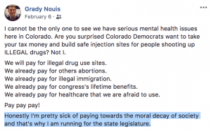 HD29 candidate Grady Nouis FB post