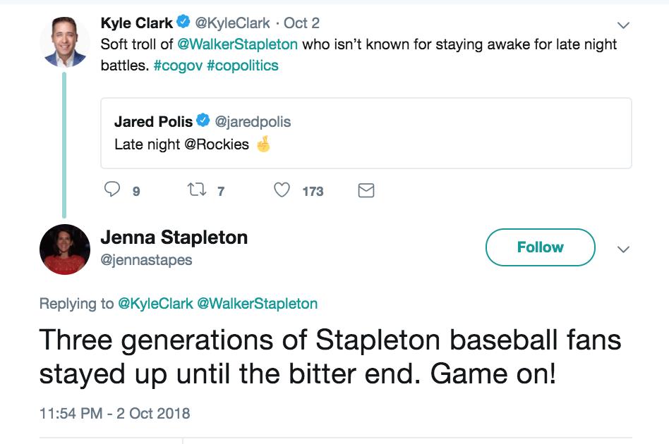 Rocktober: Polis, Stapleton & Kyle Clark tweets