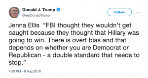 Jenna Ellis Trump FBI Tweet