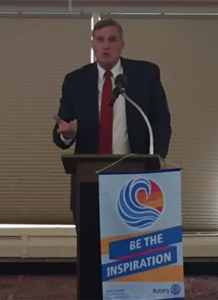 Sen. John Cooke speaks to Greeley Centennial Rotary