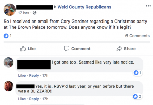 Gardner Xmas party invite comments