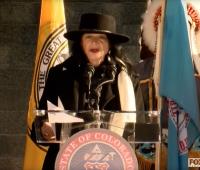Poet Anne Waldman at Gov. Polis Inauguration