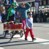 family marching in the 2019 MLK Marade