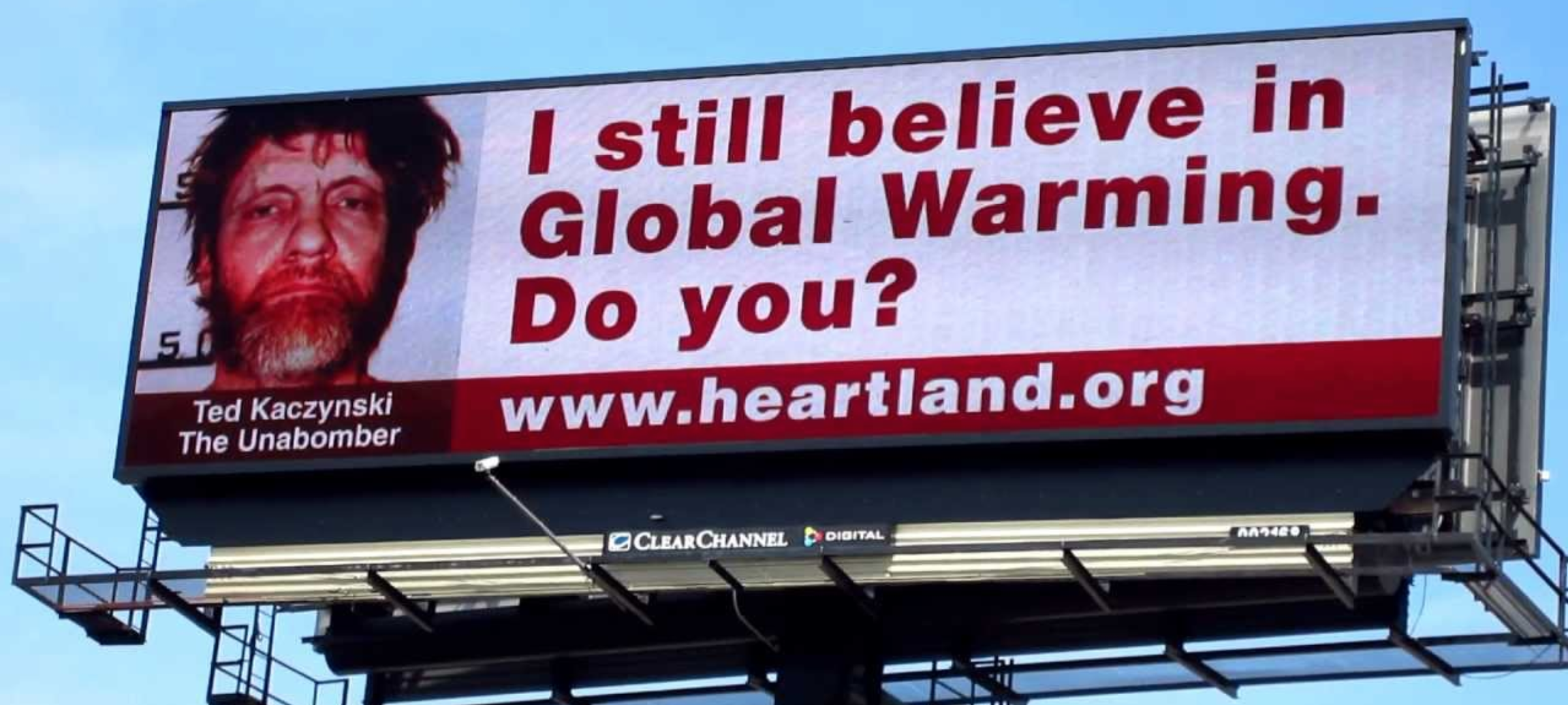 Heartland Institute climate skeptic Billboard