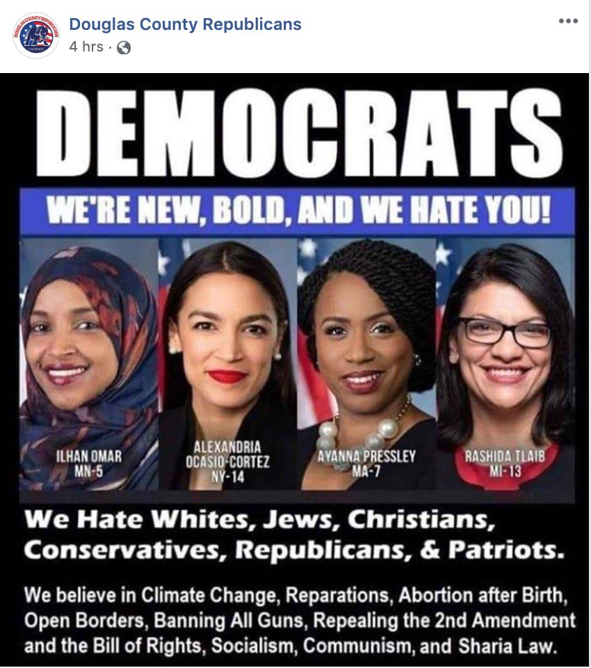 "Douglas County GOP on Facebook: Dems ""Hate Whites,"" Support ..."