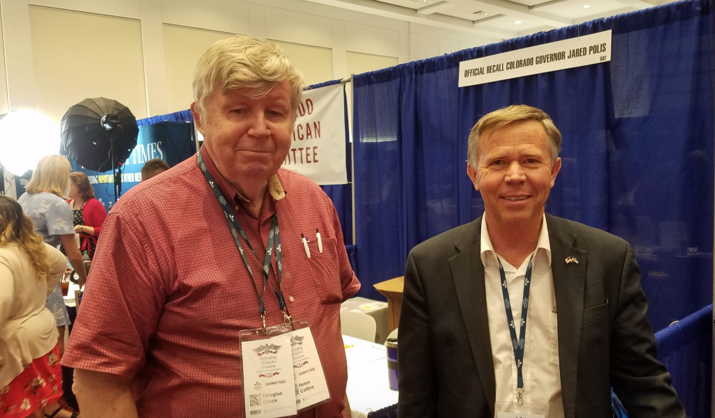 TABOR author Douglas Bruce and former Sen. Kevin Lundberg at Western Conservative Summit