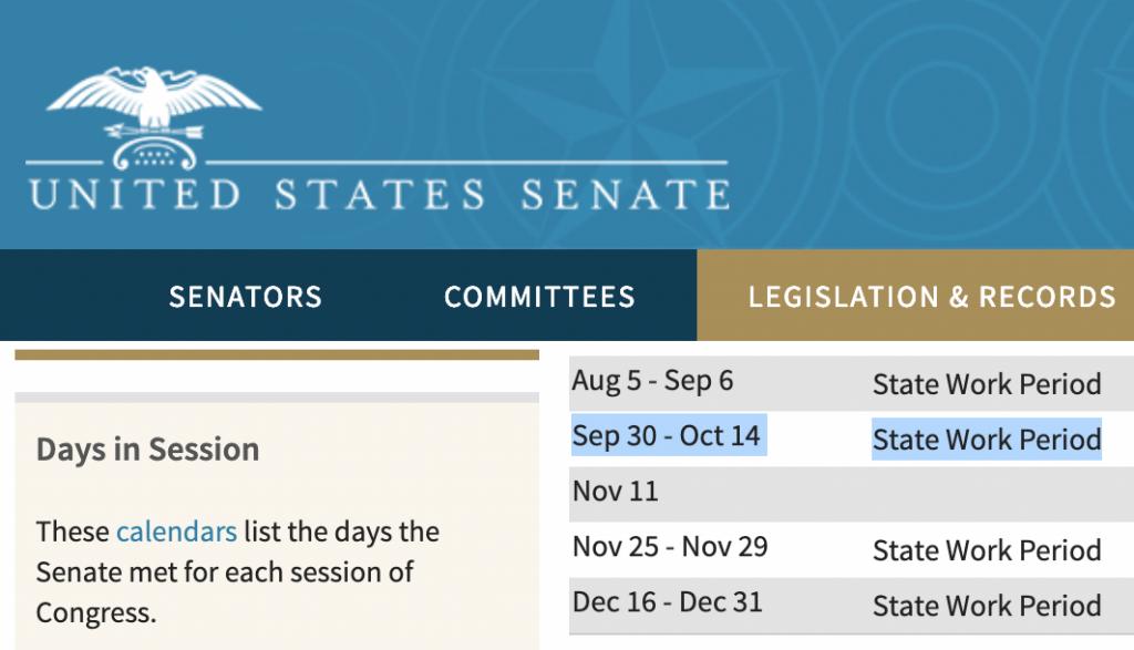 U.S. Senate Calendar