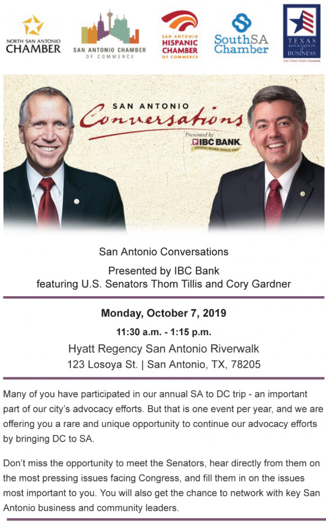 Senators Gardner & Tillis Keynote Texas Business Event