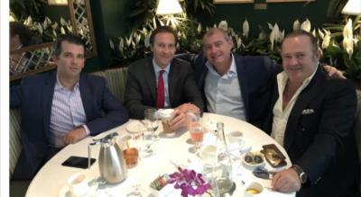 Donald Trump Jr., Tommy Hicks with Lev Parnas & Igor Fruman