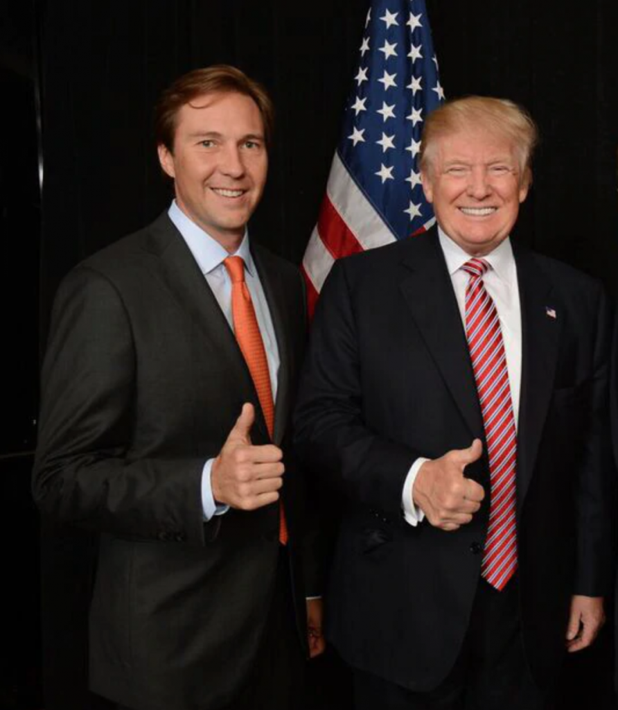 RNC co-chair Tommy Hicks Jr. & President Trump