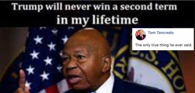 Tom Tancredo Facebook post mocking Rep. Elijah Cummings' death