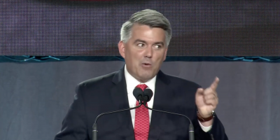 Cory Gardner speaks at the 2019 Western Conservative Summit