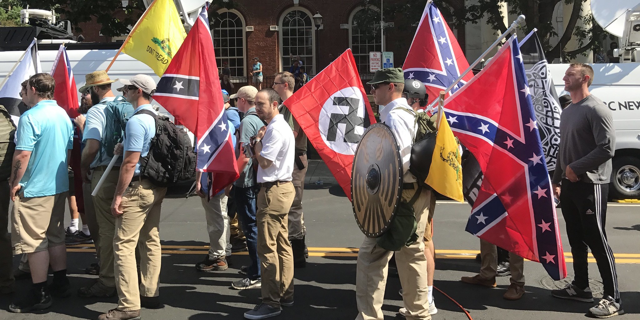 Charlottesville Rally Nazis, Photo Credit: Anthony.Crider