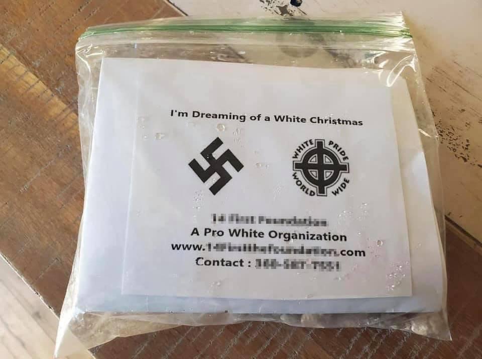 recruitment flier for a neo-nazi organization found in Broomfield, Colorado